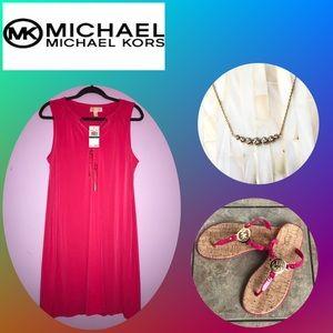 Michael Kors Dress, Sandals and Necklace Bundle